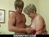 Lonely old granny fucked in various positions