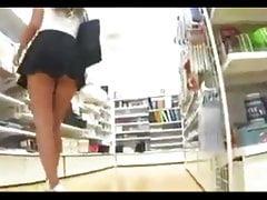 Upskirt When Clueless Slut Goes Shopping