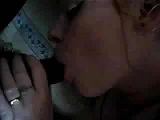 Irish slut sucks black cock