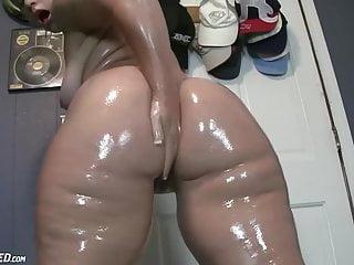 Chubby oiled slut...