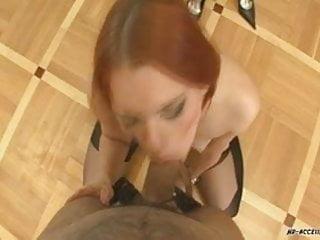 This redhead slut blowjob...