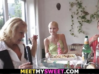 blonde teen old parents fuck birthday her His at