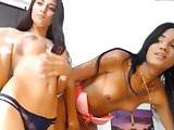 Two beautiful Tgirls playing on cam