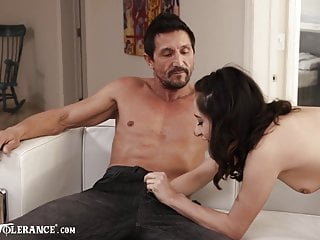 Stepdad Gives In To Slutty Stepdaughter's Temptations