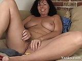 Sexy Lynn Fucking A Vegetable