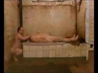 In russian sauna...