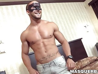 Masked muscular stud cock...