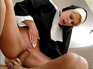 Horny nun Sandra Russo fucks a monk, upscaled to 50fps 4K