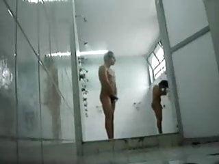 Exhibitionist films himself jacking shower hot...