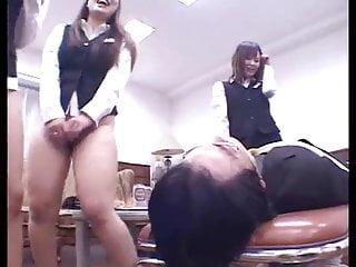 Girls face fart their boss...