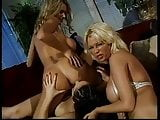 Briana Banks and girlfriends have threesome in living room
