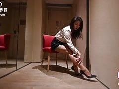 Indulgent erotic female executives secretly affair with male