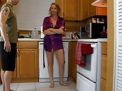 mother needs some help in the kitchen from her sonfree full porn