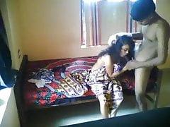 Desi Indian college teen enjoying