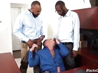 Interracial office fuck...