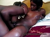 Beautiful African honey gets her tongued