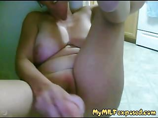 Exposed with lose shaved pussy...