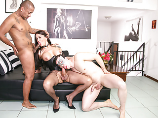 Letsdoeit smoking enjoys hot threesome...