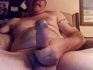 Redneck grandpa wanking