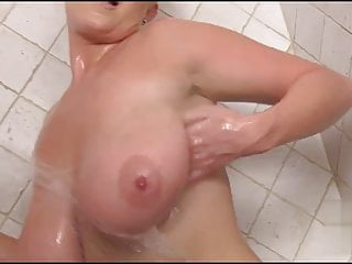 big boobs in shower