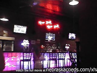 hot brunette naked in restaurant gas station and on the