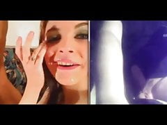 Webcam cumshots collection: Raluca (she makes real bj)