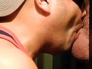 Fat uncut greek cock sucked gloryhole...