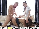 Young Sex Parties - Lesbian tutoring and threesome