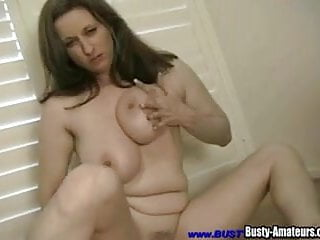 Treats herself to sex toys and masturbation