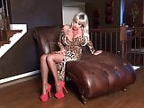 Cindy Crawford - Sexy Leopard Dress