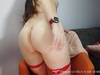 cute french christmas elf strip tease on vends-ta-culotteHD Sex Videos