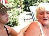 Busty granny fucks young sexy girl