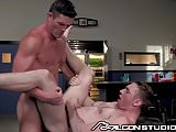 Muscle Daddy Ryan Rose Fucks Cute Horny College Boy