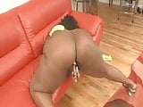 FREAKY ASS BLACK MAMA SELF SERVING THAT PUSSY...I'D HIT IT