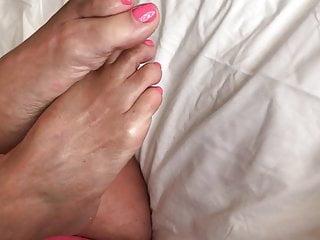 Nice pink pedi