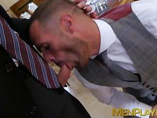 Classy boss dominates his employees...