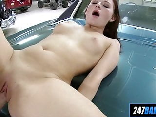 Newbie Redhead Fucks Her Mechanic