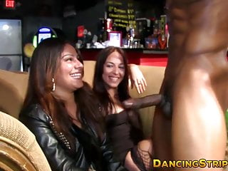 Amateur babes are deepthroating hard stripper cocks at raw party