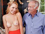 Beautiful Raylin Ann Sucks and Fucks Old Men