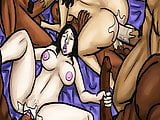 Latin Mother and Daughter Gangbanged By BBC  (Illustration)