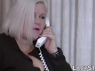 GILF Starr in drilling Thirsty cum after doused Lacey