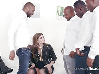 Private Black - Sex Fiend Sarah Sultry Does 4 BBC Gangbang!