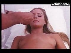 doctor examining italian actress in white satin granny panty