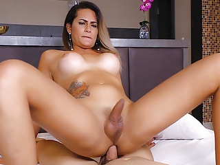 on Atrix Trans Dick Babe Bounces a Bella