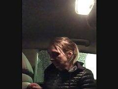 Cute Russian American Girlfriend Car Blowjob