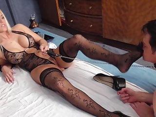 Bdsm Femdom Foot Fetish video: sadistic glamour girls foot sniffing