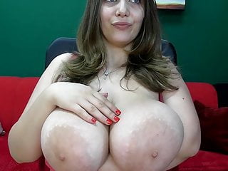 Busty camgirl fondles areolas 3...