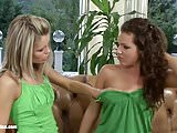 Slurping Sweeties - lesbian scene with Brandy and Domin