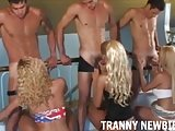 A good tranny gangbang is what you need