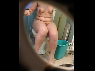 Two of my wife's sisters in bathroom